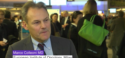 Marco Colleoni MD from the European Institute of Oncology in Milan